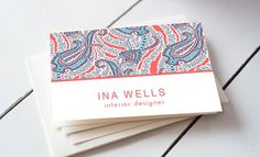 Colorfull Paisley Business Card by iloladesign on @creativemarket