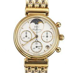 """Damenarmbanduhr der Marke IWC """"Da Vinci"""", 18K GG Rundes Goldgehäuse, Nr. 2401746, Ref. 3735, Werk- — Armband- und Taschenuhren"""