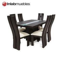 comedor minimalista 6 sillas solo de inlab muebles en dmm
