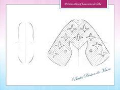 Présentation chaussons de bébe Tutorial of baby shoe
