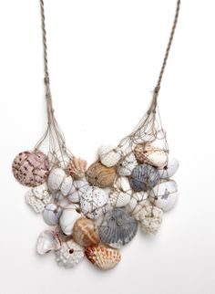 Ft.Myers Seashell Necklace  http://www.etsy.com/shop/DESIGNSQUISH