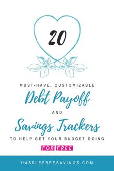 20 Options for Debt Payoff and Money Saving Challenge Tracker Printables in my FREE Resource Library. What are you waiting for. Get started any time and stay motivated to hit your budgeting and financial goals. Savings Challenge, Money Saving Challenge, Money Saving Tips, Pay Debt, Debt Payoff, Debt Tracker, Saving Tracker, Savings Chart, Household Notebook