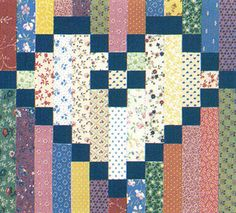 Sweethearts' Chain quilt block pattern: Download the FREE pattern for the classic Sweethearts Chain block from Quiltmaker's Fall/Winter '85 issue. The block was designed by Christine Brown.