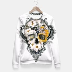 Skull Still Life Fitted Waist Sweater, Live Heroes