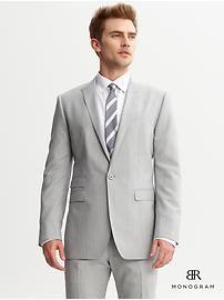 BR Monogram striped suit blazer
