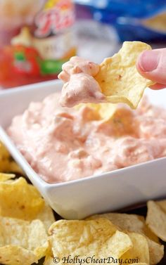 Easy Cream Cheese Salsa Dip - HOLLY'S CHEAT DAY