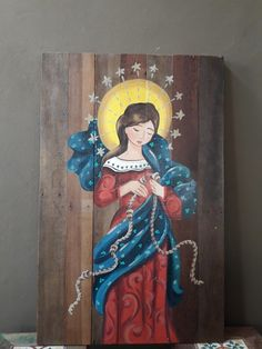 Catholic Altar, Catholic Crafts, Virgin Mary Art, Angel Artwork, Indian Art Paintings, Holy Mary, Doll Painting, Sketchbook Inspiration, Art Mural