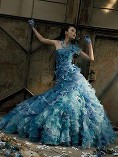Blue Wedding Dress ... without the shoulder...