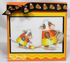 Candy Corn Mice by stampwithkristine - Cards and Paper Crafts at Splitcoaststampers