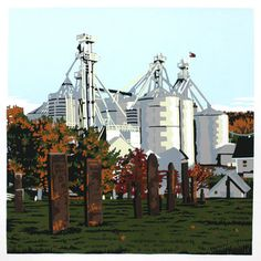 The Mill Granville, Ohio print by Jim Winters
