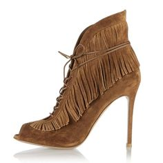 women ankle boots tassels lace up party shoes women high heels shoes boots big size 34-43 brown sexy peep toe ladies boots woman