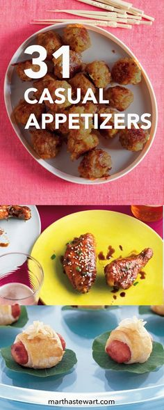 Hors d'oeuvres needn't be fussy -- or fussed over. These bite-size recipes match the tone of any laid-back gathering.