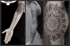 Awesome mandala dotwork tattoo