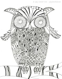 Printable Intricate Owl Coloring Page Whooo Doesnt Love Color In This If Youre An And Or A Lover