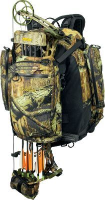 I have used this Cabelas bow and rifle pack with Scent Lok for several years now. It is well designed and offers plenty of room and some nice features but is VERY heavy. Looking for a new lighter replacement. Archery Bows, Archery Hunting, Hunting Gear, Deer Hunting, Hunting Stuff, Hunting Clothes, Camping Survival, Survival Gear, Bow Hunter