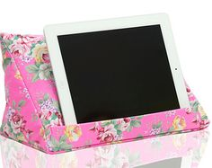 iPad cushion - Pink Floral tablet stand