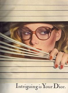 80's Christian Dior Eyewear Ad