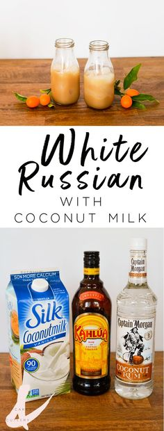 Non dairy White Russian. Coconut milk and coconut rum with Kahlua. Kahlua Drinks, Rum Cocktails, Coconut Rum Drinks, Rum Cocktail Recipes, Rum Recipes, Yummy Drinks, Cocktail Ideas, Cocktail Drinks, Mix Drinks