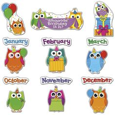 Owls Birthday Bulletin Board Set By Carson Dellosa Product 37583