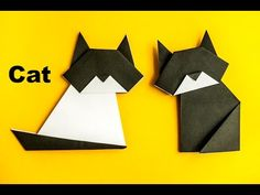 Cats origami - Very simple to make - great instructional video - no talking so language is not a problem!! So Cute!!!| Kotek