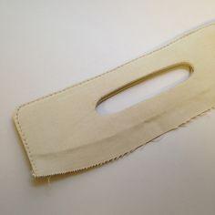 Best method yet. Tutorial: Coraline Clutch Handles - Swoon Sewing Patterns. Add stiff interfacing