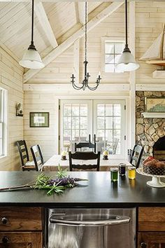 approaches to whitewash pine paneling - Google Search