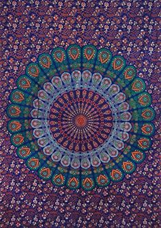 Wall Sheets, Bohemian Tapestry, Tuesday Motivation, Large Table, Bed Throws, Bed Covers, Indian Art, Hippy, Table Runners