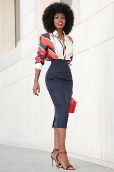 48 New Ideas Skirt Outfits Midi Pencil Shirts Look Fashion, Skirt Fashion, Timeless Fashion, Retro Fashion, Vintage Fashion, Fashion Outfits, Fashion Design, Classy Outfits, Cute Outfits