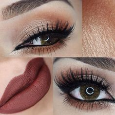 Feeling the autumn is coming with this #eyemakeup & lips by @penelopeobeso finalizing her look with our #falsie style #GLM12. Link to product ➡️ www.shopeyemimo.com/falseeyelashes-glm12