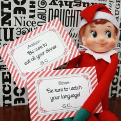 elf on a shelf story printable | notes from the elf on the shelf | Printables