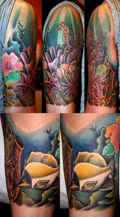 Tropical Underwater Tattoos Designs   coral reef by MrTat2