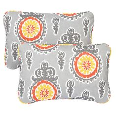 Vintage Citrus Corded 13 x 20 inch Indoor/ Outdoor Throw Pillows (Set of 2)