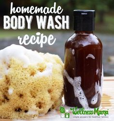 This homemade body wash combines natural ingredients like liquid castille soap, honey, oils and essential oils for a skin nourishing recipe that works.