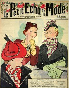 Affiche Couverture Revue Le Petit Echo de la Mode 1936 - www.french-vintage-posters.fr