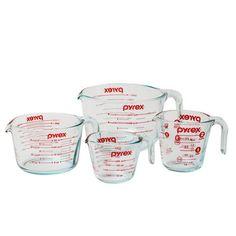 Pyrex 4 Piece Prepware Measuring Cup Set & Reviews | Wayfair