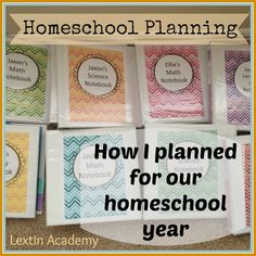 READ THIS IN JUNE/ JULY!!!!!!!!!!! Lextin Academy of Classical Education: How I Planned for My Homeschool Year