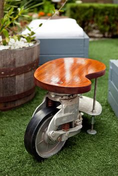 side table - large caster & misc hardware