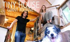 video tour Tiny House Giant Journey - REALLY COOL stairs that are also kitchen storage…lots of reclaimed materials and DIY aspects
