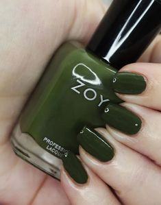 Zoya Nail Polish in Mel from the Luscious Collection  Swatches Green Nail Polish, Zoya Nail Polish, Let It Shine, Green Makeup, Nice Nails, Beauty Review, Cool Tones, Holiday Nails, Swatch
