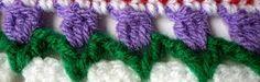 Franciens haakwerk: Tulpen randjes haken/crochet tulips