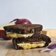 Breakfast, lunch or dinner, this red onion and apple grilled cheese is the best