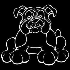 English Bulldog Decal Dog