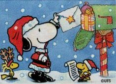 <3~ Letter to Santa, We Always Love Snoopy & Christmas ~<3