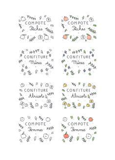 Etiquettes bocaux compotes & confitures                                                                                                                                                                                 Plus