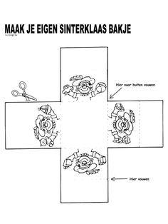 Kleurplaat Sinterklaas bakje - Kleurplaten.nl