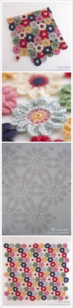 Crochet)New Patterns. Crochet Patterns Shawl This Pin was discovered by Вер Crochet Patterns Shawl Spring, spring, spring seems to be a sure spring. Spring seems to be a definite spring. The flower motif which it is bright is steadily. Floral motif, k Crochet Blocks, Crochet Chart, Crochet Squares, Crochet Granny, Crochet Motif, Crochet Doilies, Knit Crochet, Crochet Stitches, Crochet Home