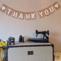 A personal favourite from my Etsy shop https://www.etsy.com/listing/235764063/thank-you-vintage-bunting-banner-wedding