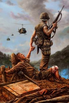 """The latest Brothers in Arms"", Dan Nance -Vietnam War,. Vietnam History, Vietnam War Photos, Military Art, Military History, Military Drawings, Army Wallpaper, Brothers In Arms, American Soldiers, Vietnam Veterans"