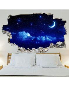 Simple Decor Ideas For Teen Girl Bedrooms Bedroom Themes, Home Decor Bedroom, Bedroom Ideas, Bedroom Art, Casa Rock, Diy Wanddekorationen, Space Theme, Teen Girl Bedrooms, Vinyl Wall Stickers