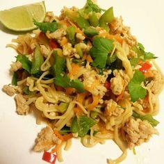 Edel's Mat & Vin : Kyllingkjøttdeig & nudler med asiatisk touch ♫♪ 'S...